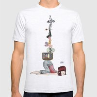 What? Part Deux Mens Fitted Tee Ash Grey SMALL