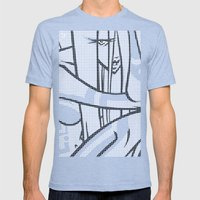CONNECTED Mens Fitted Tee Tri-Blue SMALL