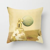 Woman Scent Throw Pillow