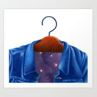 Universe In A Jacket Jea… Art Print
