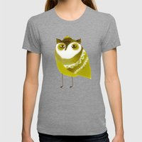 Golden Owl Illustration  Womens Fitted Tee Tri-Grey SMALL