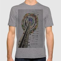 bridge Mens Fitted Tee Athletic Grey SMALL