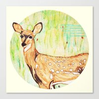As A Deer Canvas Print