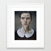 Portrait (shiver) Framed Art Print
