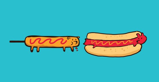 Dog Eat Dog World Art Print