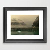 Icebergs In Alaska Framed Art Print