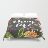 Duvet Cover featuring Thug Life by Text Guy
