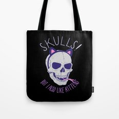 Skulls and Kittens Tote Bag
