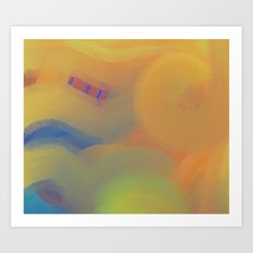 Blue Striped Sky Art Print