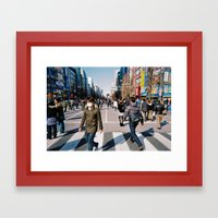 Street factory Framed Art Print