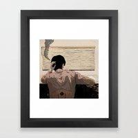 Man at Desk Framed Art Print