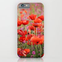 iPhone & iPod Case featuring Poppies in Spring by Around the Island (Robin Epstein)