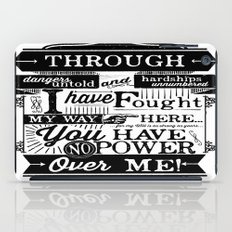 Labyrinth Quote You Have No Power Over Me iPad Case