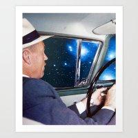 Night Driving Art Print