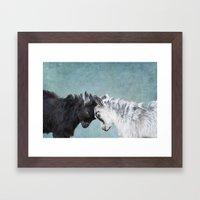 Baby Goats Framed Art Print