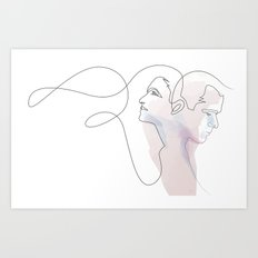 Conversation Art Print