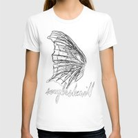 MSW Wing #01 Womens Fitted Tee White SMALL