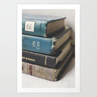 Vintage Books - Book series Art Print