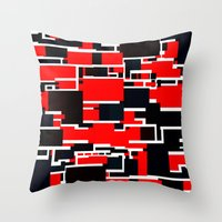 Black And Red Throw Pillow