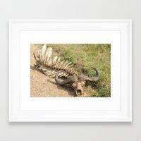 Gnu's bone Framed Art Print