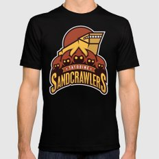 Tatooine SandCrawlers - Gold Black Mens Fitted Tee SMALL
