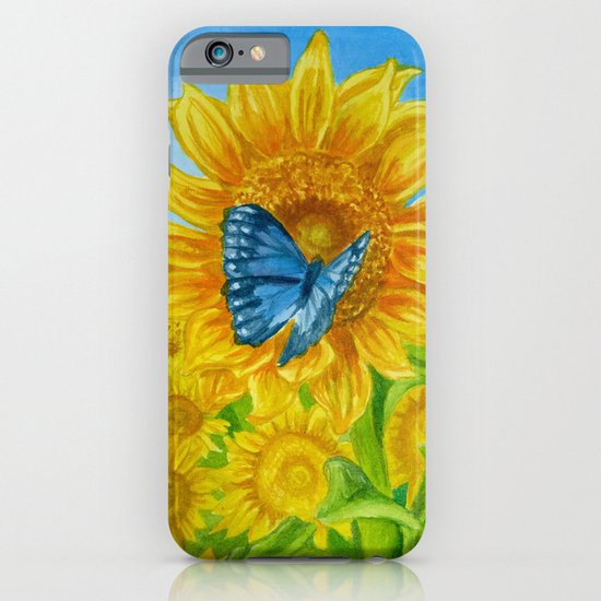 Blue Butterflies iPhone & iPod Case