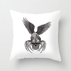 Spider-Skull and Eagle Throw Pillow