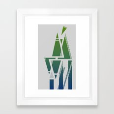Abstract Color Framed Art Print