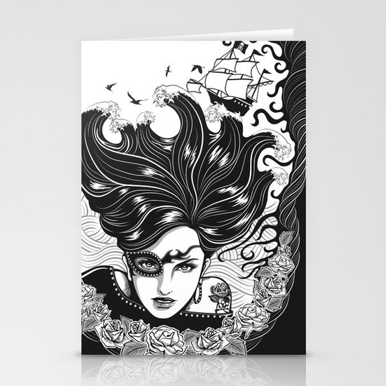 Pirate Queen Stationery Card