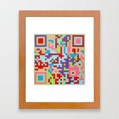 Number Two Multicolour  Framed Art Print