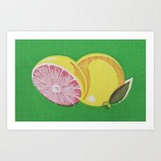 Fruitopia Pamplemousse Art Print