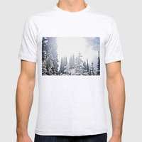 Fresh Mountain Snow Mens Fitted Tee Ash Grey SMALL