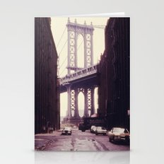 New York City - Manhattan Bridge Tower in Brooklyn Stationery Cards