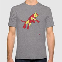 The Invincible IronCat Mens Fitted Tee Tri-Grey SMALL