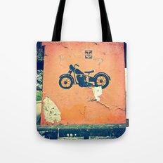 Motorcycle street art Tote Bag