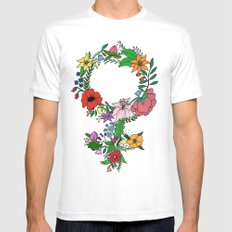 Feminist flower in color SMALL Mens Fitted Tee White