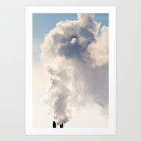Majestic Smoke Pollution Art Print