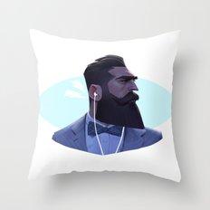 Manly Man Throw Pillow