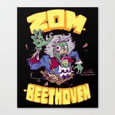 Zombeethoven Canvas Print