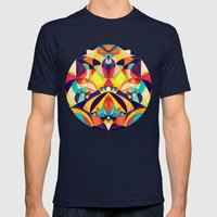 Poetry Geometry Mens Fitted Tee Navy SMALL