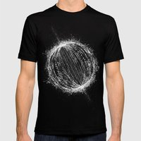 Planetary Explosion Mens Fitted Tee Black SMALL