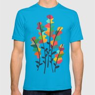 Flower From The Meadow Mens Fitted Tee Teal SMALL