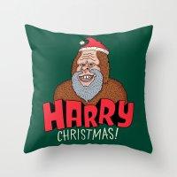 Harry Christmas! Throw Pillow