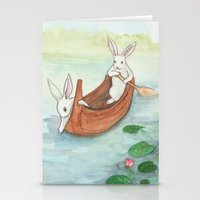 Lazy Day In The Canoe Stationery Cards