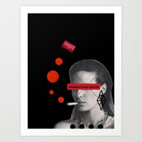 Fashion is not real life Art Print