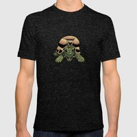 Happy Tortoise Mens Fitted Tee Tri-Black SMALL
