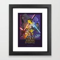 Wars of too many Stars Framed Art Print