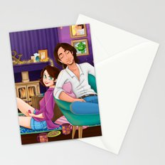 Coffee and cookies in front of the fire  Stationery Cards