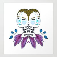 Gemini Girl Art Print