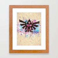 Splash Triforce Emblem Framed Art Print